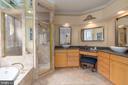 Owner's bathroom with quartz counters - 3242 FOXVALE DR, OAKTON