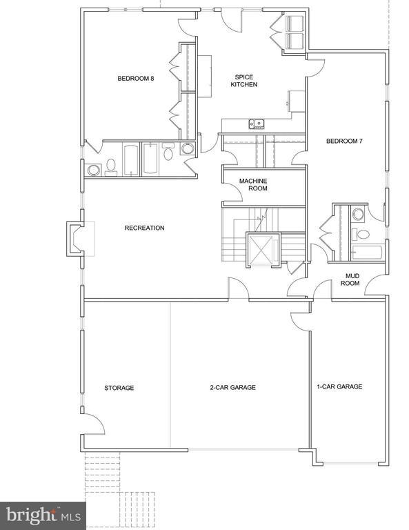 Lower Level  Layout - 7627 LISLE AVE, FALLS CHURCH