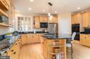 Kitchen with newer granite and Viking appliances - 3242 FOXVALE DR, OAKTON
