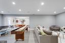 Media/Recreational  room (basement) - 1313 N HERNDON ST, ARLINGTON