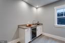 Wet bar - Media/Recreational  room (basement) - 1313 N HERNDON ST, ARLINGTON