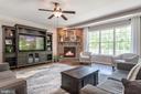 Huge family room with corner fireplace and LIGHT! - 259 HEFLIN RD, STAFFORD