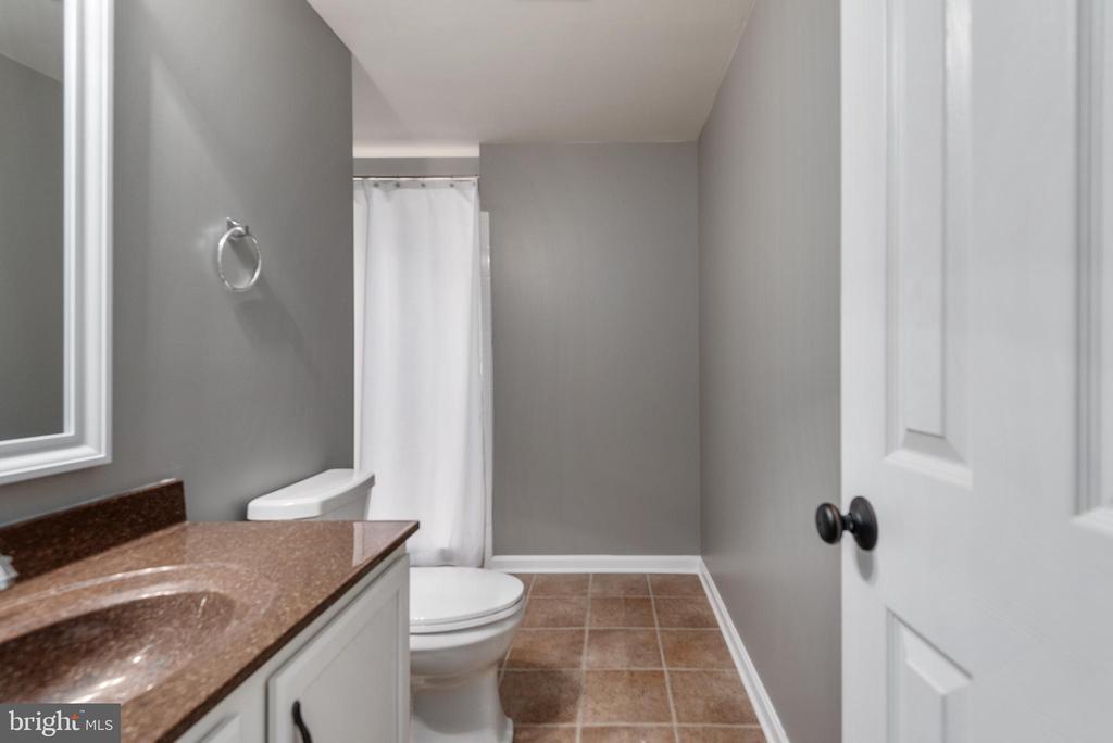 Basement bathroom with HUGE tile shower - 259 HEFLIN RD, STAFFORD