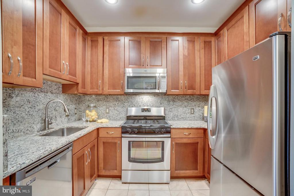 Kitchen. with granite countertops - 1645 INTERNATIONAL DR #407, MCLEAN