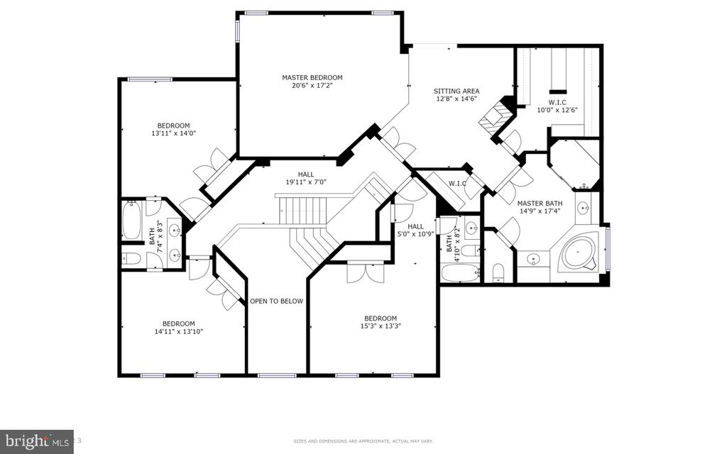 Upper Level Floor Plan - 47320 MIDDLE BLUFF PL, STERLING