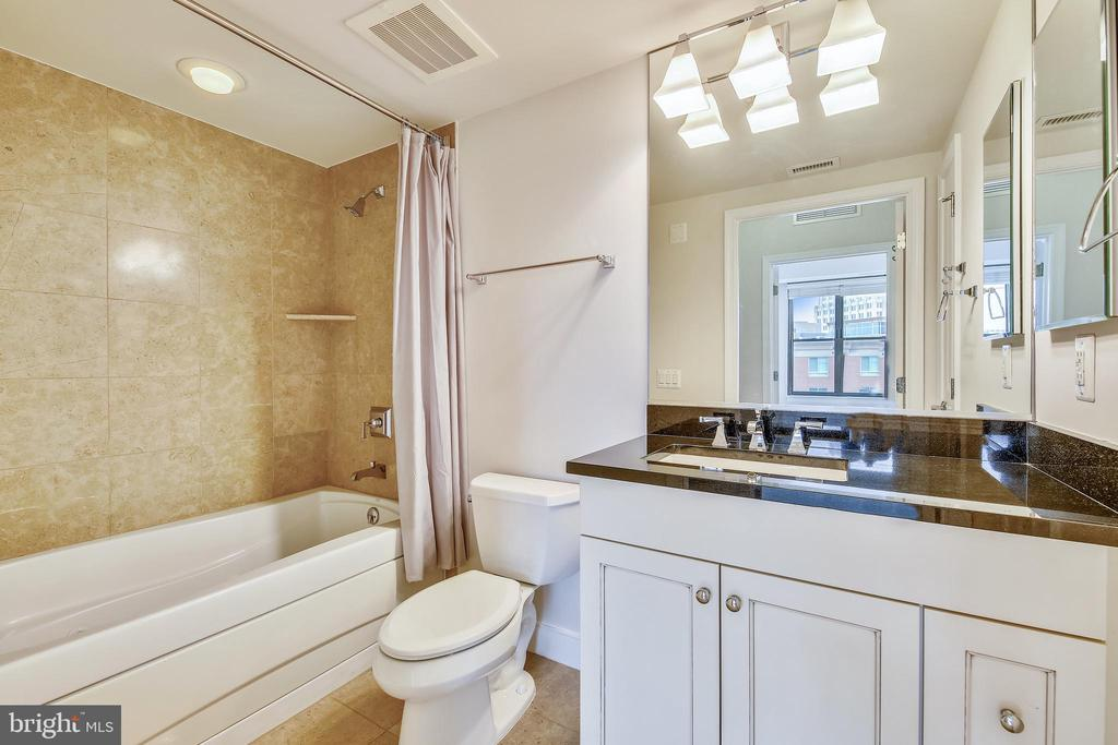 Hallway Bathroom with Jacuzzi Tub - 7710 WOODMONT AVE #1207, BETHESDA