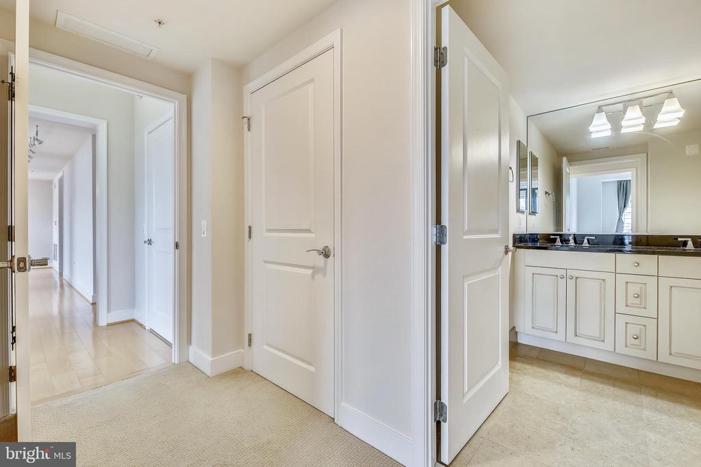 Hallway/Hallway Bathroom - 7710 WOODMONT AVE #1207, BETHESDA