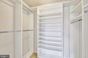Master Bedroom Closet - 7710 WOODMONT AVE #1207, BETHESDA
