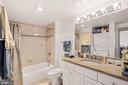 Bathroom with Bathtub and Nice Tile Work - 7111 WOODMONT #701, BETHESDA