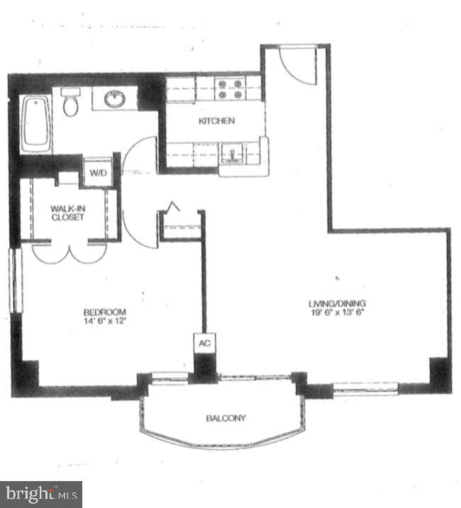 Condo's Floor Plan - 7111 WOODMONT #701, BETHESDA