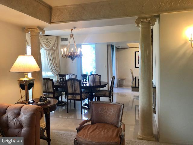 View into the Dining Room from the Living Room - 5809 NICHOLSON LN #409, NORTH BETHESDA