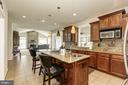 Open Concept Kitchen w/ an extended island - 4 BRANNIGAN DR, STAFFORD