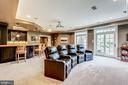 Lower Level Recreation Room - 606 DEERFIELD POND CT, GREAT FALLS