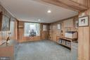 Lower Level - Office Area with Powder Room - 4070 52ND ST NW, WASHINGTON
