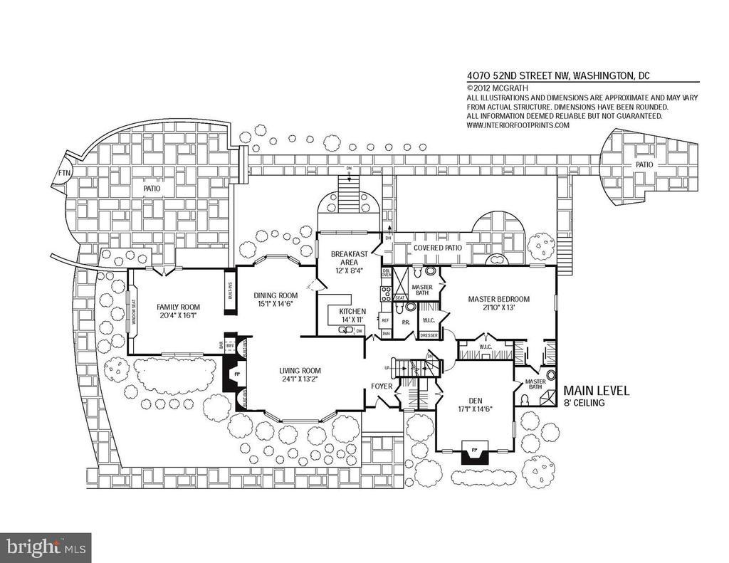Floor Plan - Main Level - 4070 52ND ST NW, WASHINGTON