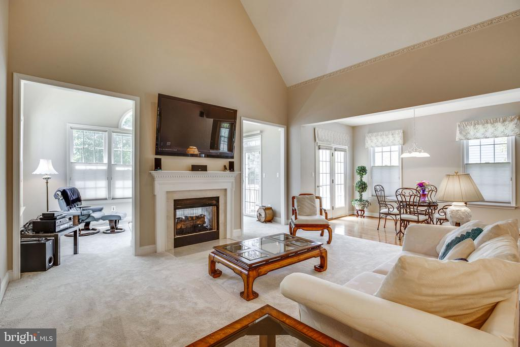 Family room with gas fireplace - 13891 CRABTREE WAY, GAINESVILLE