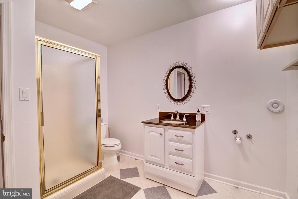Full Bath in Basement - 12729 MYERSVILLE LN, LEESBURG