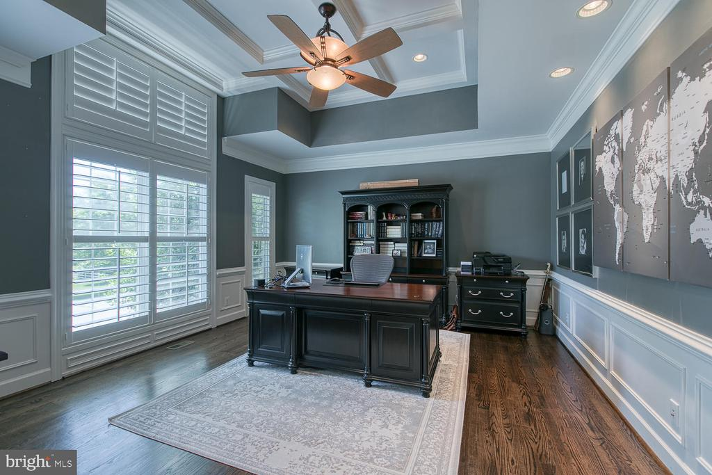 Main-Level Study, Plantation Shutters - 21079 MILL BRANCH DR, LEESBURG