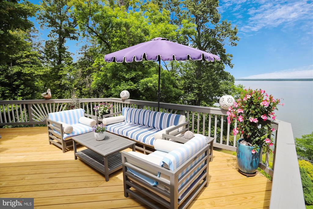 Main level deck w expansive space for entertaining - 19 POTOMAC OVERLOOK LN, STAFFORD