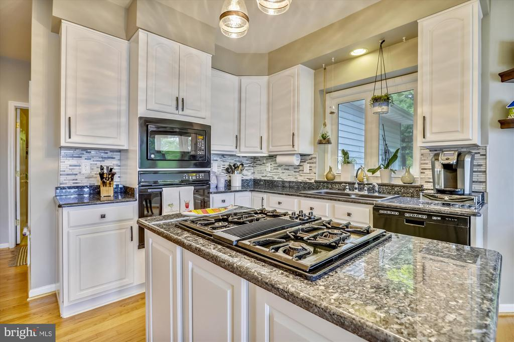 Gas stove and sparking granite countertops - 19 POTOMAC OVERLOOK LN, STAFFORD