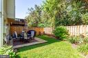 PRIVATE LANDSCAPED BACK YARD - 21860 GOLDSTONE TER, STERLING