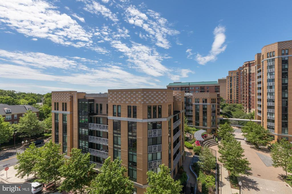 Private balcony view - 3409 WILSON BLVD #610, ARLINGTON