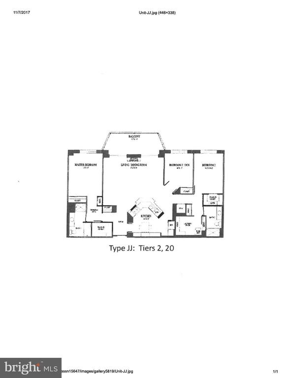Floorplan for the unit - 19355 CYPRESS RIDGE TER #320, LEESBURG