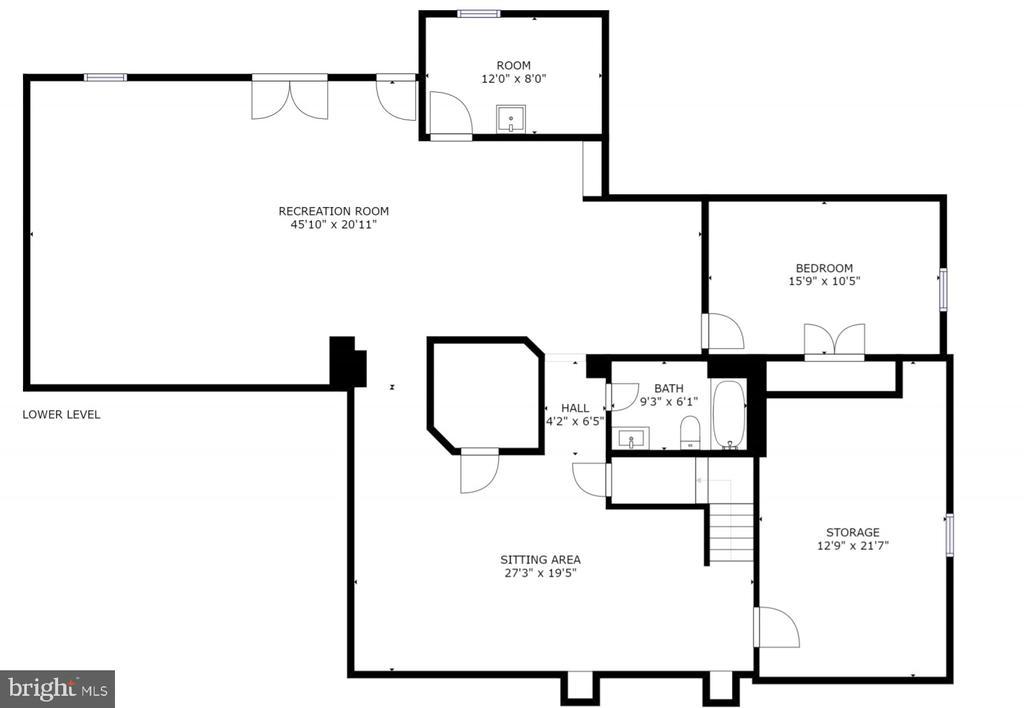 Lower Level Floorplan - 4 BRANNIGAN DR, STAFFORD