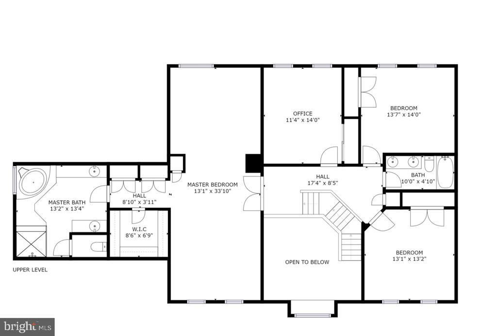 Upper Level Floorplan - 4 BRANNIGAN DR, STAFFORD