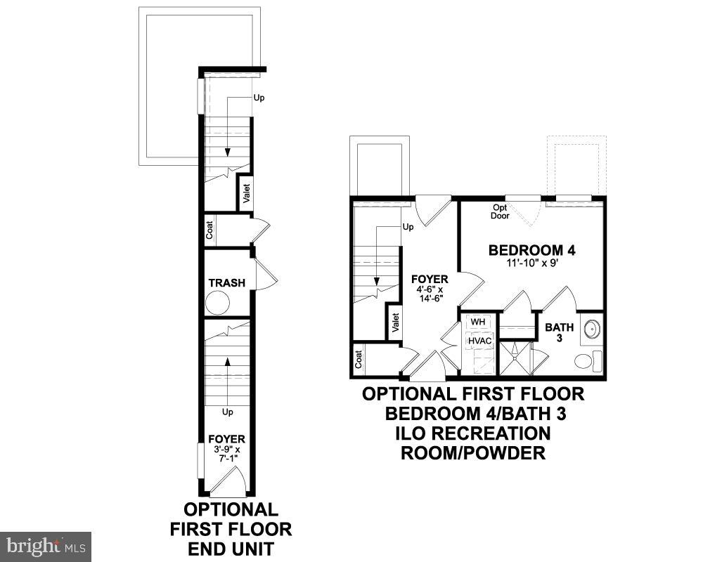 First Floor (Options) - 1018 SOUTH TAYLOR CT, ARLINGTON