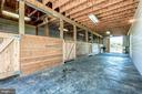 Interior of the Red Barn w/hayloft above - 37986 KITE LN, LOVETTSVILLE