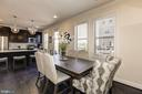 Formal dining area in great room - 42890 SANDY QUAIL TER, ASHBURN