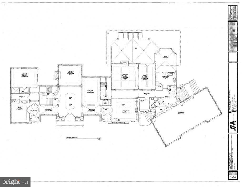 Main Level Floor Plan - 11345 ALBERMYRTLE RD, POTOMAC