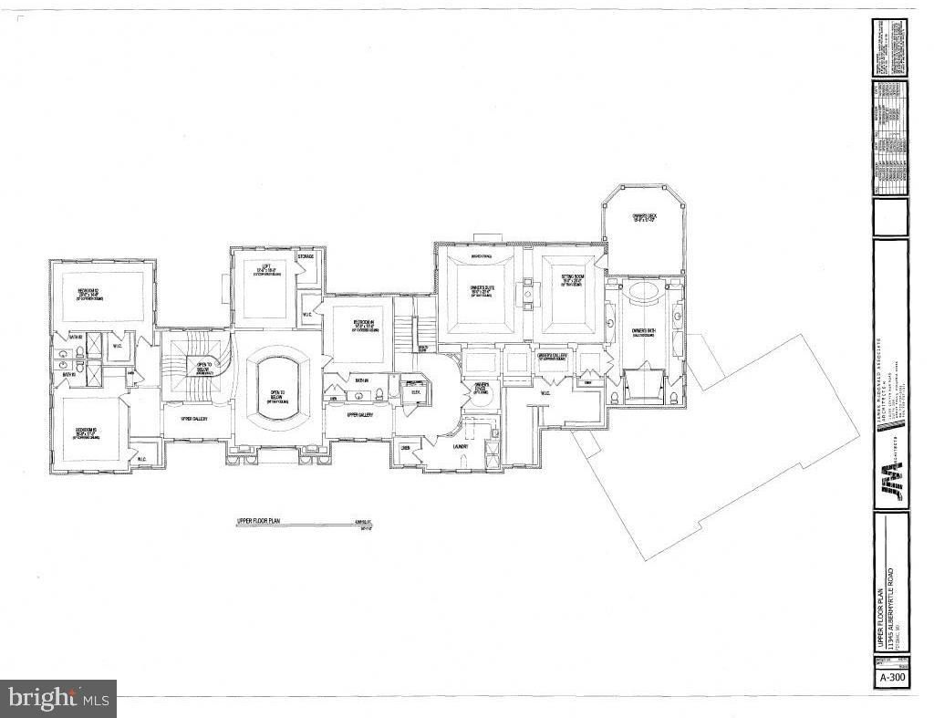 Upper Level Floor Plan - 11345 ALBERMYRTLE RD, POTOMAC