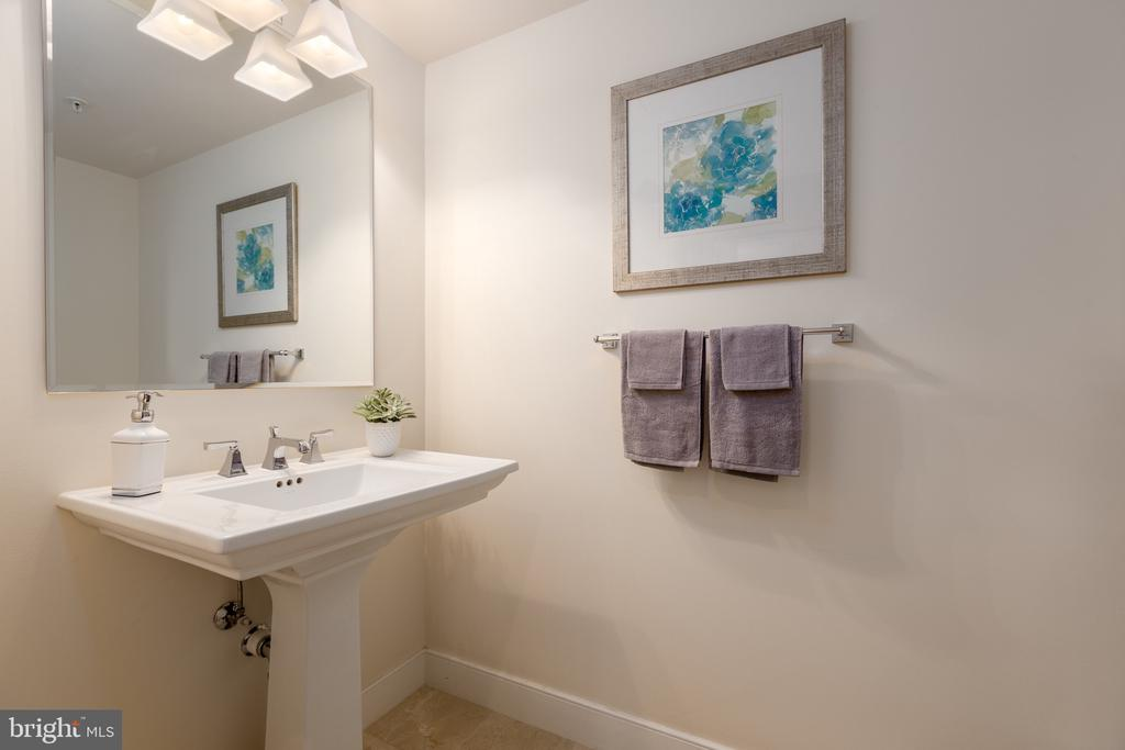 Powder room for your guests - 7710 WOODMONT AVE #802, BETHESDA
