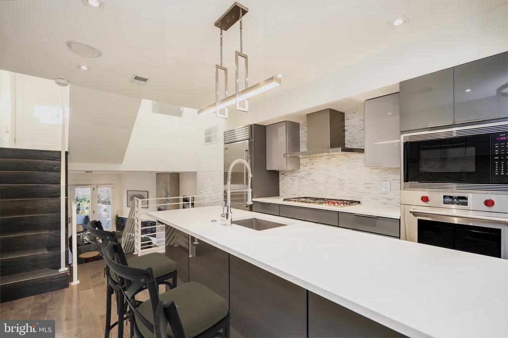 Kitchen (Virtually Staged) - 1821 VERMONT AVE NW, WASHINGTON