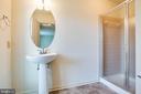 Full bathroom on Main Floor - 208 OLD LANDING CT, FREDERICKSBURG
