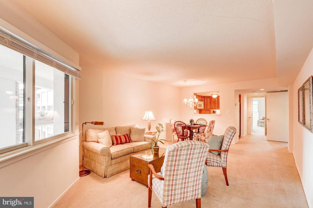 View from Foyer of LR & DR - 1951 SAGEWOOD LN #315, RESTON