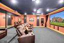 Amazing Media Room - 19544 ROYAL AUTUMN LN, LEESBURG