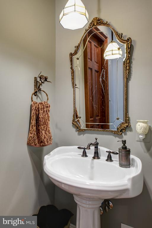 The guest powder room off the library and hallway - 41430 FOX CREEK LN, LEESBURG