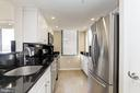 Kitchen with stainless steel appliances (2018) - 11710 OLD GEORGETOWN RD #317, ROCKVILLE