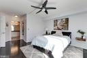Master bedroom with ensuite bath (2020) - 11710 OLD GEORGETOWN RD #317, ROCKVILLE