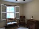 Bedroom#3 plush carpet  and plantation Blinds in e - 12 HAMLIN DR, FREDERICKSBURG