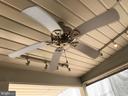 Ceiling fans  in ceiling of the outdoor Kitchen - 12 HAMLIN DR, FREDERICKSBURG