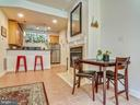 Dining/kitchen area - 3350 17TH ST NW #T2, WASHINGTON