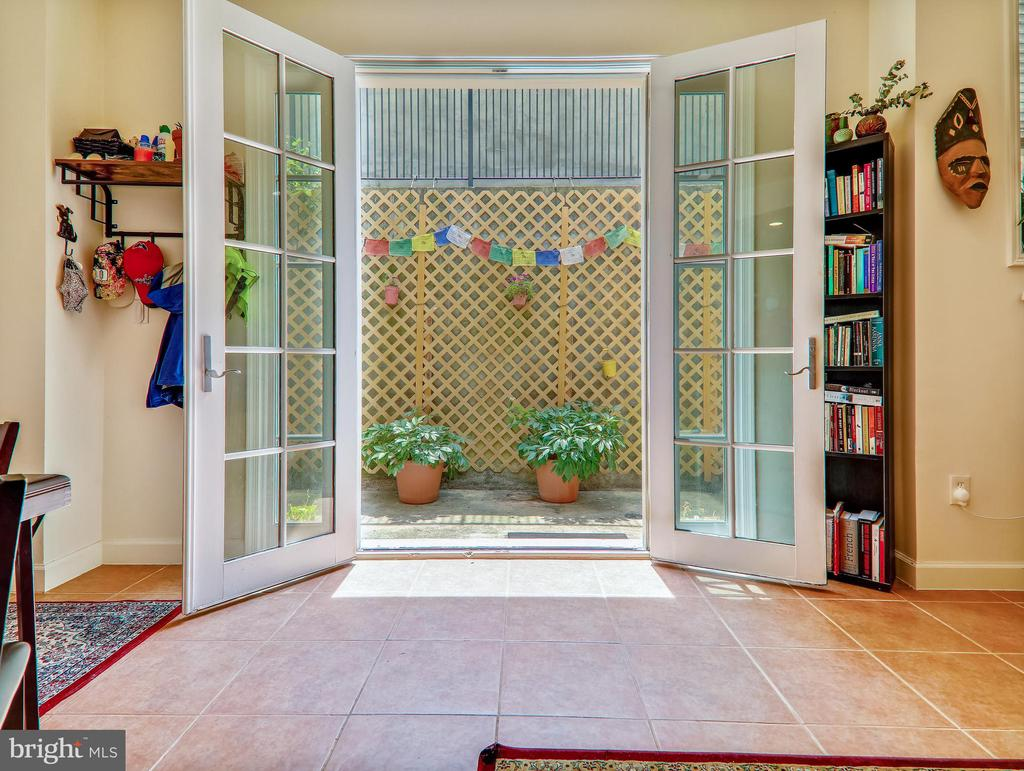 French doors leading to private patio - 3350 17TH ST NW #T2, WASHINGTON
