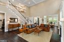 These ceilings are 20 ft high! - 17076 SILVER ARROW DR, DUMFRIES