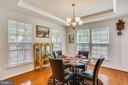 Dining Room with tray ceiling - 22362 BRIGHT SKY DR, CLARKSBURG
