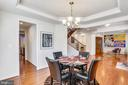 Dining Room lead to butler pantry - 22362 BRIGHT SKY DR, CLARKSBURG
