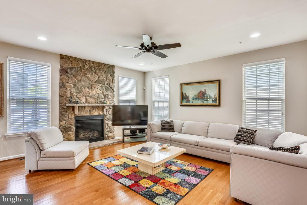 Family Room with Gas Fireplace - 22362 BRIGHT SKY DR, CLARKSBURG